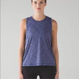 Lululemon Cardio Squad Tank II Heathered Hero Blue